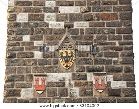 Eagles Emblem On The Wall In Rothenburg Od Der Tauber
