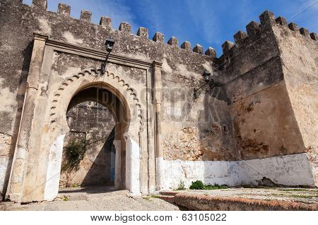 Ancient Stone Fortress In Madina. Old Part Of Tangier, Morocco