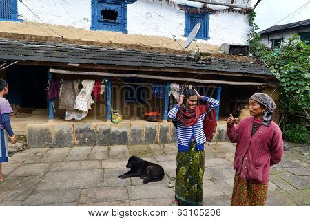 Traditional Gurung Village Of Ghandruk In The Himalayas