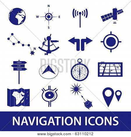 navigation icons set eps10