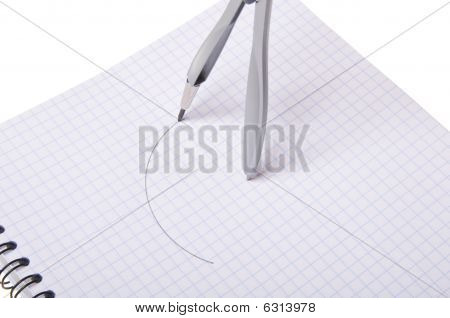 Compasses On Copybook