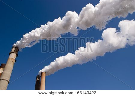 Power Plant Smokestacks