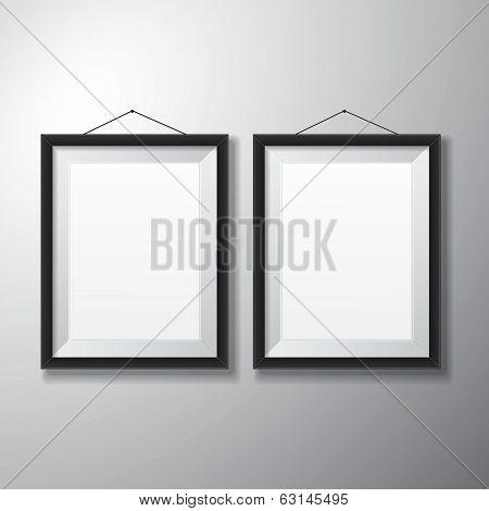 Picture Frames Black Vertical