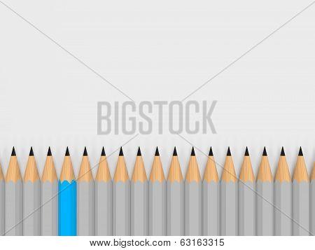 Single Color Pencil Show Leadership In Crowd
