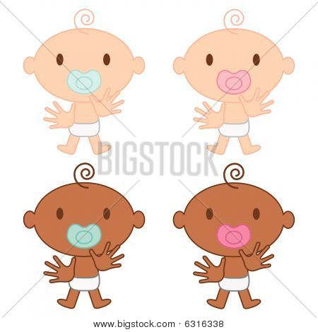 Multicultural Babies Vector