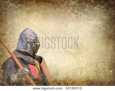 Armored Knight - Retro Postcard