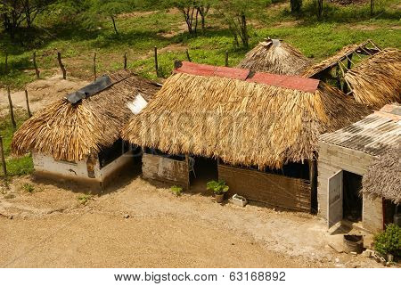 Peru Peruvian Amazonas landscape. The photo present typical indian tribes settlement in Amazon poster