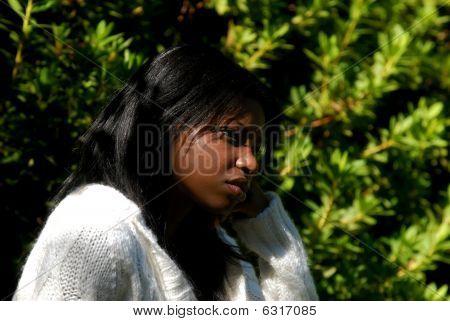 African- American Woman depressed