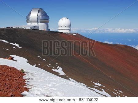 Observatory on Mauna Kea Summit, Hawaii