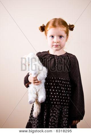 Portrait Of Cute Redhead Girl