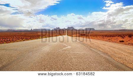 Route 163 near Monument Valley Arizona USA poster