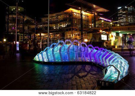 Work of art for Vivid festival, Sydney