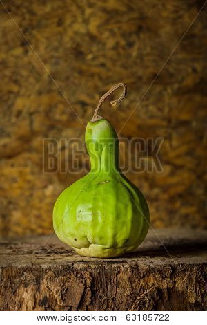 Still life art photography with calabash on the timber poster