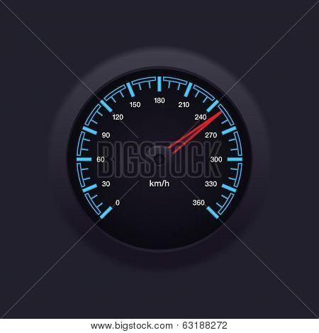 Speedometer Blue