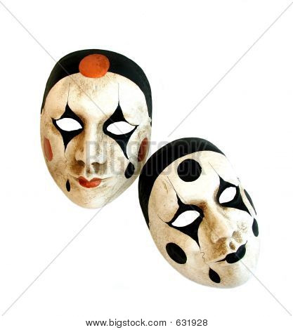 Two Venetian Carnival Masks