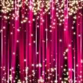 Sparkle glitter stars on pink stripe background poster