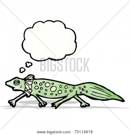 cartoon newt