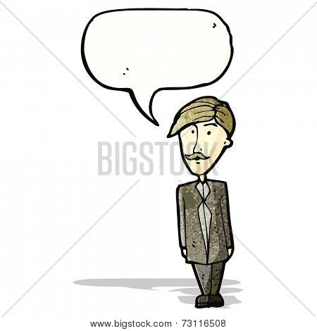 cartoon sensible businessman
