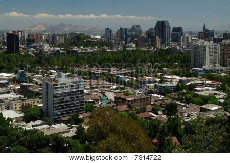 Panorama Of Santiago
