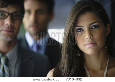 Portrait of South American businesspeople