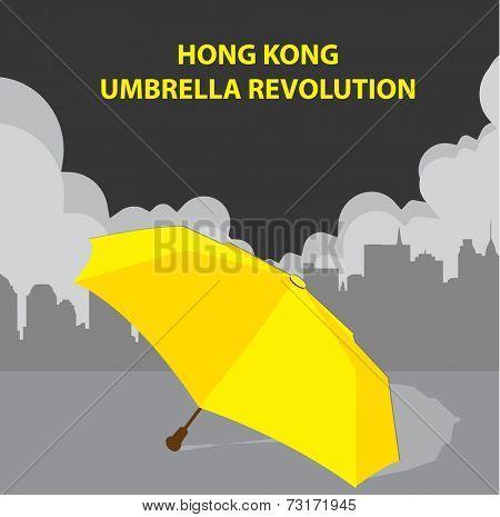Hong Kong yellow umbrella revolution poster
