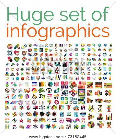 Huge mega set of infographic templates, set 1