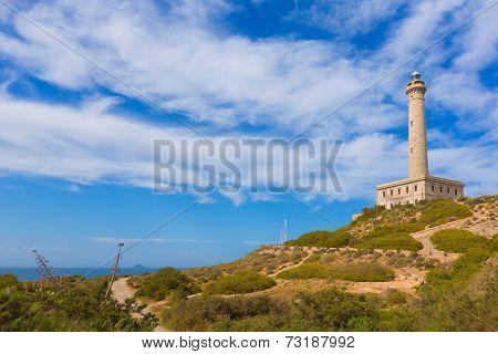 Cabo de Palos lighthouse near Manga Mar Menor Murcia at Spain