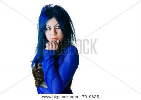 Portrait Of A Cyber Goth Girl
