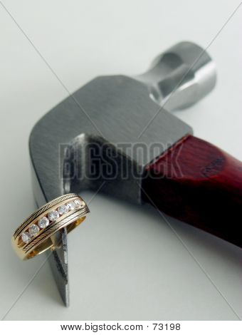 Diamond Ring On Hammer