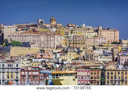 Cagliari, Sardina, Italy cityscape. poster