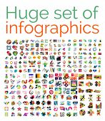 Huge mega set of infographic templates, set 1 poster