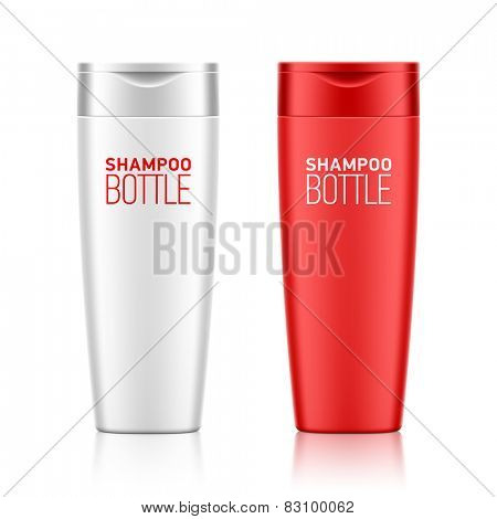 Shampoo bottle template for your design. Vector.