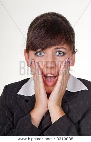 Businesswoman surprise