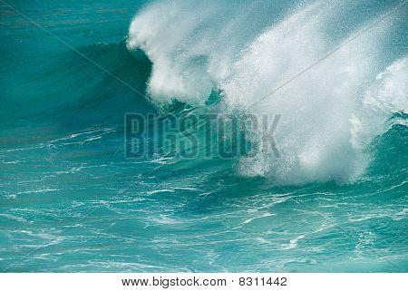 Turquoise Ocean Wave Breaking