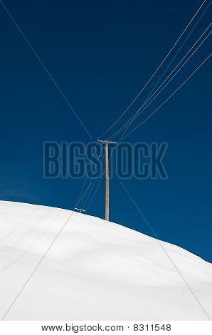 Power Pole In Winterwonderland
