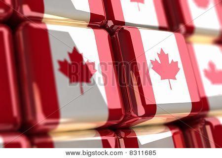 Canadian Flag-cube