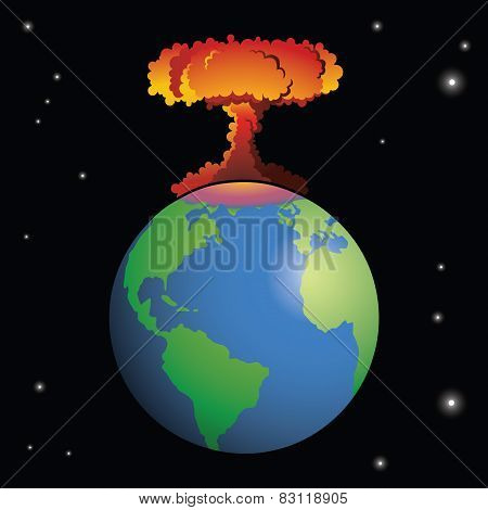 Nuclear weapon exploding on Earth