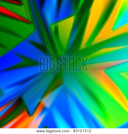 Bang. Abstract colorful energetic artworks. Creative art background. Colors blue green aqua yellow.