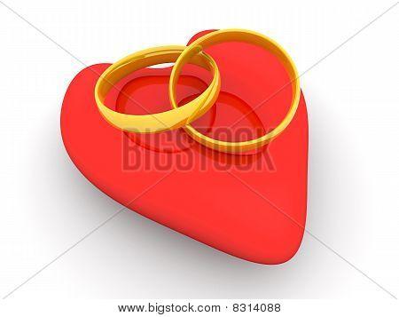 Marriage symbol. 3D rendered Illustration. Conceptual Image. poster