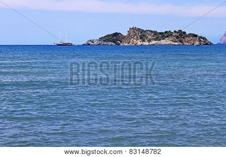 Island Near Iztuzu Beach, Turkey