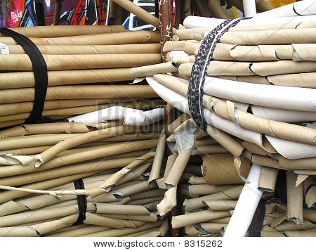 Bundles Of Cardboard Tubes