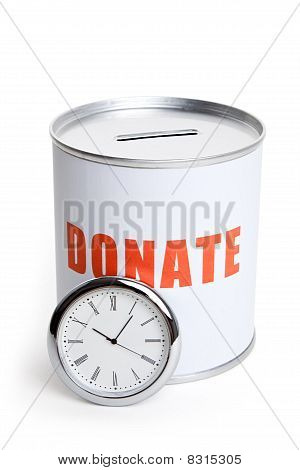 Donation Box And Clock
