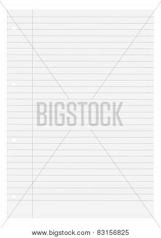 Blank white lined paper with industry norm A4 poster