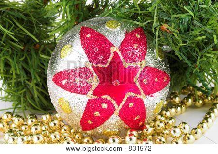 christmas ball and christmas tree 2