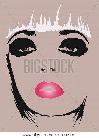 fashion woman pop art poster