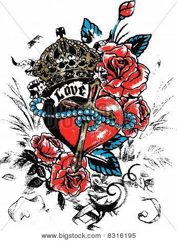 Love Heart Emblem