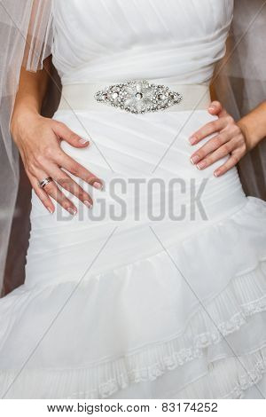 bride in luxury decorated dress