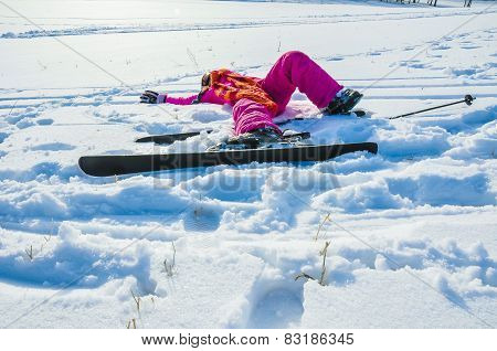 Tired Little Skier