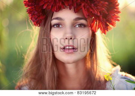 Closeup Face Of Ukrainian Female Model