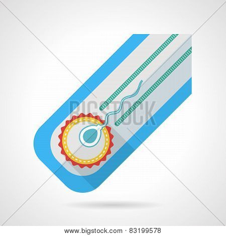 Flat colored vector icon for fertilization